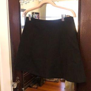 JCrew Flare Black Skirt